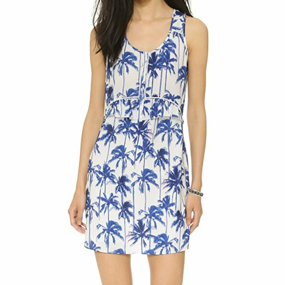 NWT Maison Scotch Palm Tree Dress